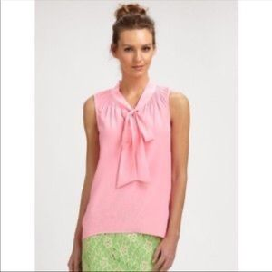 Lily Pulitzer Silk Tie Blouse